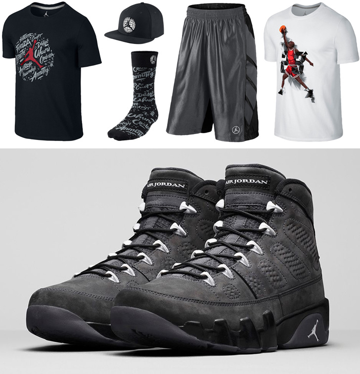 Retro Jordan 9 Anthracite With Outfit | International College Of Management Sydney