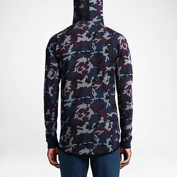 nike tech fleece camo hoodie obsidian. Black Bedroom Furniture Sets. Home Design Ideas