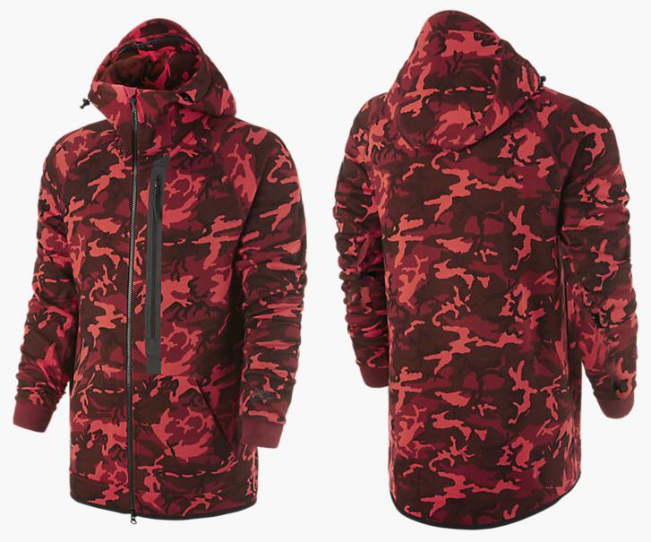 nike tech hoodie mens red