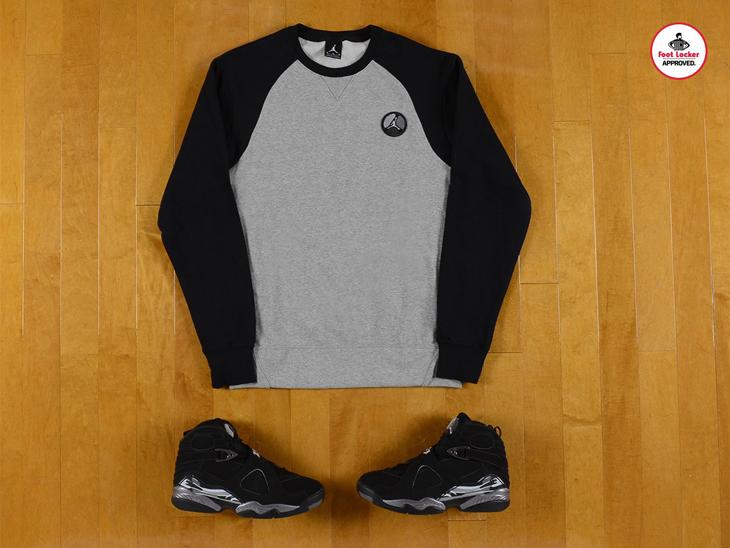 Air Jordan 8 Chrome Apparel At Footlocker | SportFits.com