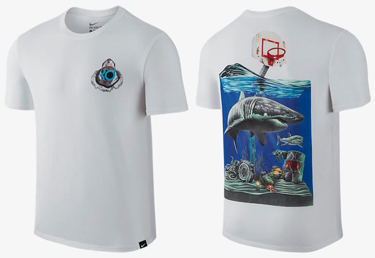 Nike kd 8 megalodon ocean fog shirt for Kd t shirt nike