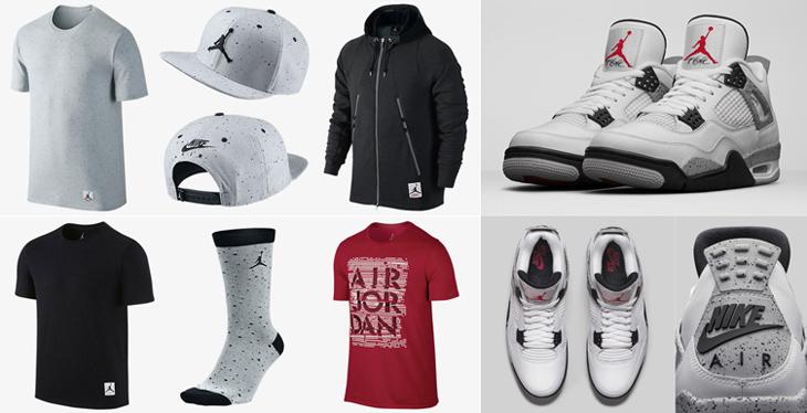 air jordan 4 white cement apparel