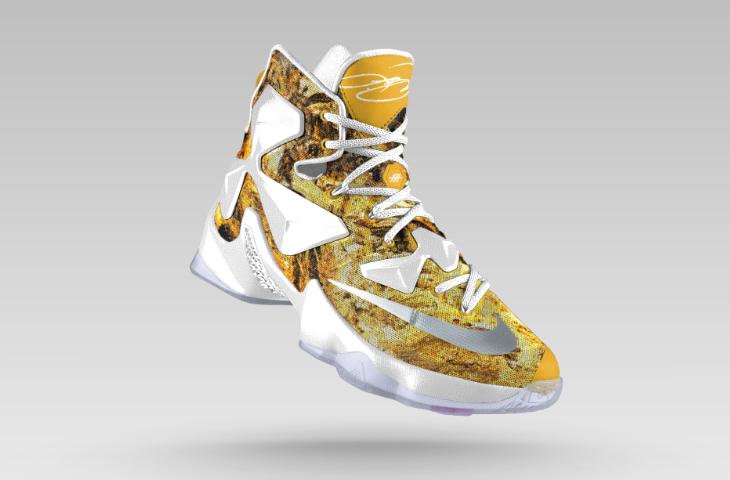 nike lebron 13 gold white