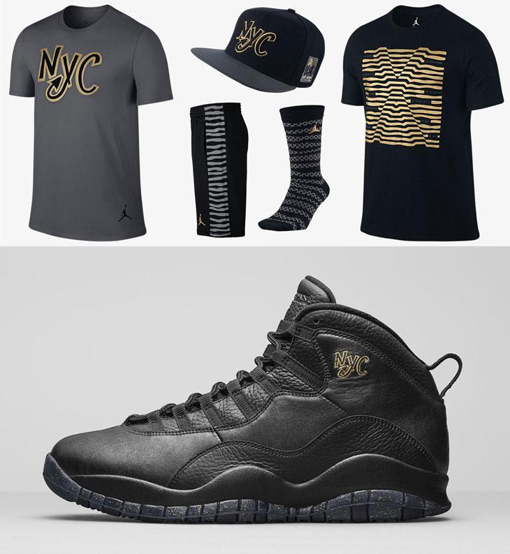Air Jordan 10 NYC Clothing | SportFits.com