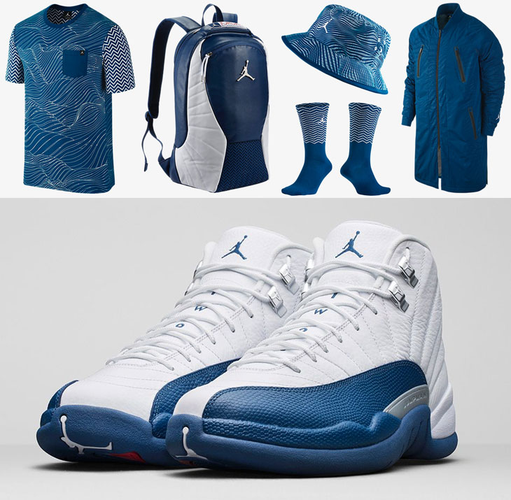 Jordan 12 french blue outfit