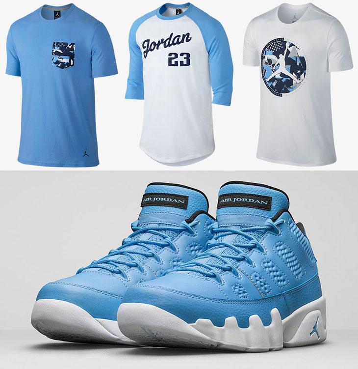Air jordan 9 low pantone university blue shirts for We are jordan unc shirt