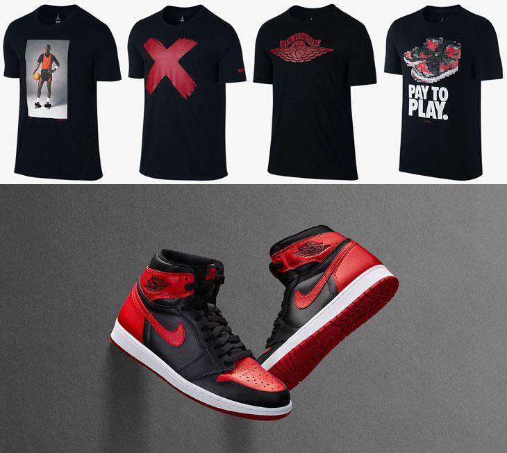 Air Jordan 1 Banned Sneaker Shirts | SportFits.com