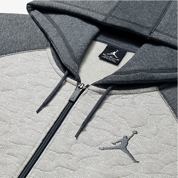 Air jordan 3 hoody in black with cement print details hurry up and