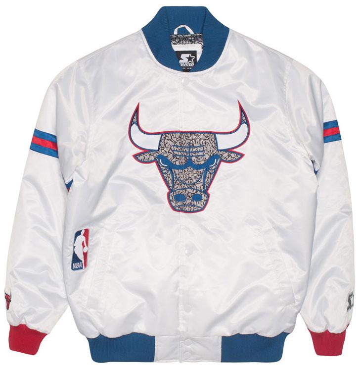 Jordan 3 True Blue Starter Bulls Jackets | SportFits.com
