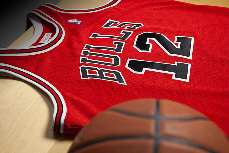 vebryf Chicago Bulls Michael Jordan 12 Jersey by Mitchell and Ness