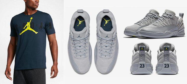 Air Jordan 12 Low Wolf Grey Clothing | SportFits.com