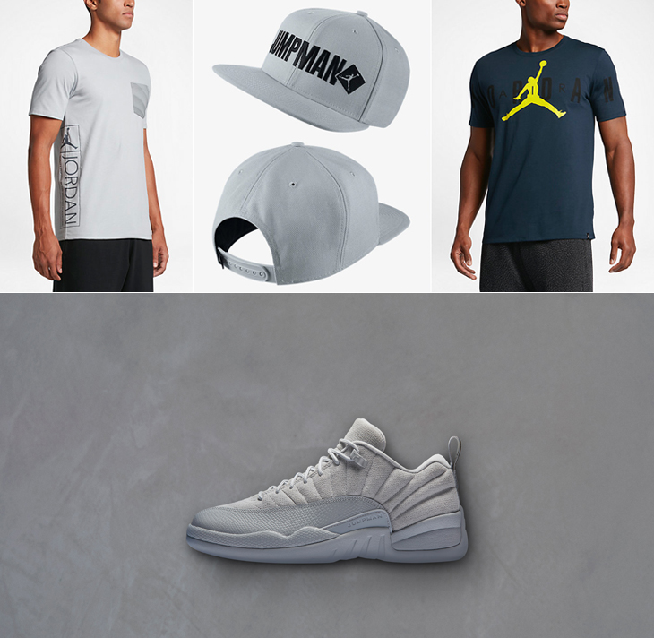"8e511faf1f5 ... SNEAKERFITS Clothing to Match the Air Jordan 12 Low ""Wolf Grey"" ..."
