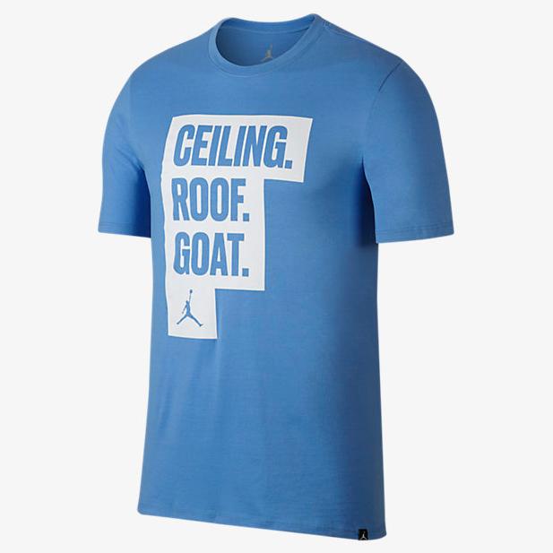 Jordan Unc Ceiling Roof Goat T Shirt Sportfits Com